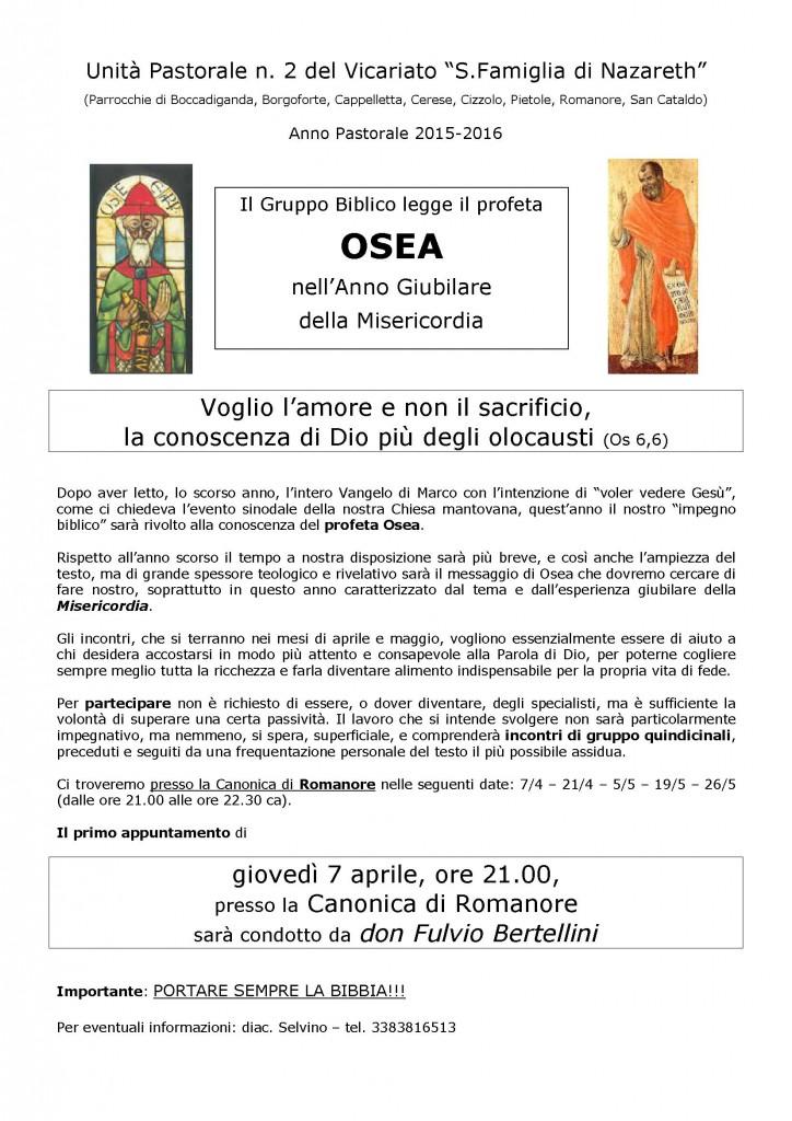 2016 - Incontri Biblici su Osea